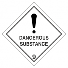 Dangerous Substance Hazard Warning Label