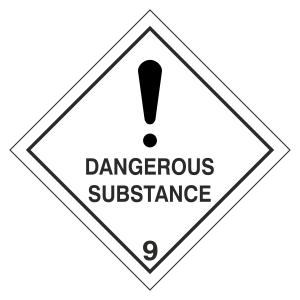 Dangerous Substance Hazard Warning Label