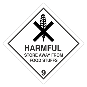 Harmful Hazard Warning Label