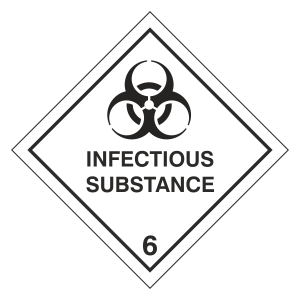 Infectious Substance Hazard Warning Label
