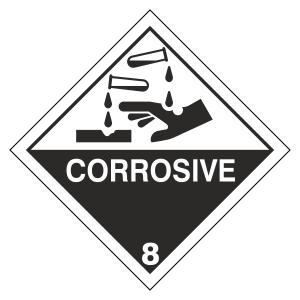Corrosive Hazard Warning Label