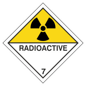 Radioactive Hazard Warning Label
