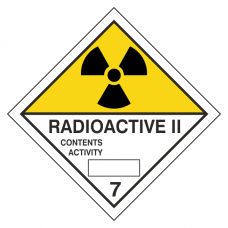 Radioactive II Hazard Warning Label