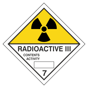 Radioactive III Hazard Warning Label
