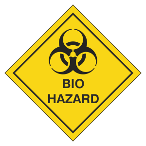 Bio Hazard Hazard Warning Label