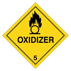 Oxidizer Hazard Warning Label