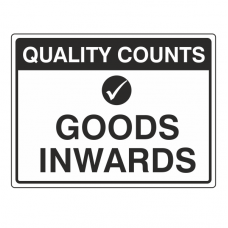 Goods Inwards Sign (Large Landscape)