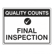 Final Inspection Sign (Large Landscape)
