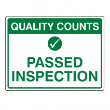 Passed Inspection Sign (Large Landscape)