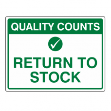 Return To Stock Sign (Large Landscape)