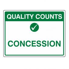 Concession Sign (Large Landscape)