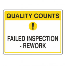 Failed Inspection - Rework Sign (Large Landscape)