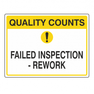 Failed Inspection - Rework Sign (Large Landscape)
