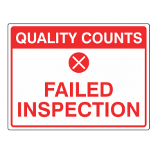 Failed Inspection Sign (Large Landscape)