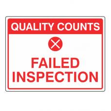 Failed Inspection Sign (Large Landscape)