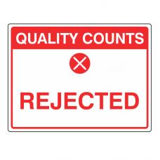 Rejected Sign (Large Landscape)