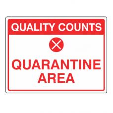 Quarantine Area Sign (Large Landscape)