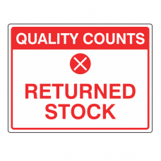 Returned Stock Sign (Large Landscape)