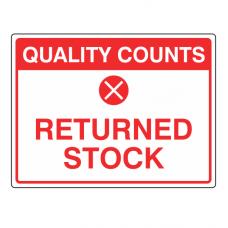 Returned Stock Sign (Large Landscape)
