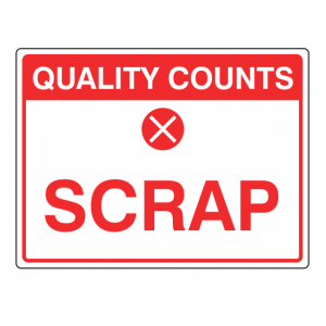 Scrap Sign (Large Landscape)