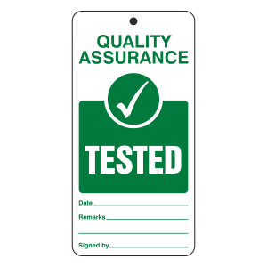 Quality Assurance - Tested Tie Tag