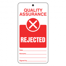 Quality Assurance - Rejected Tie Tag