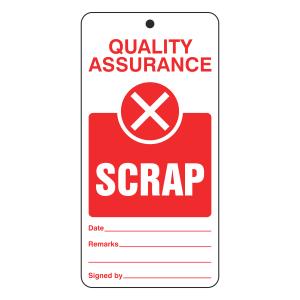 Quality Assurance - Scrap Tie Tag