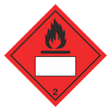 Flammable 2 UN Substance Hazard Numbering Label