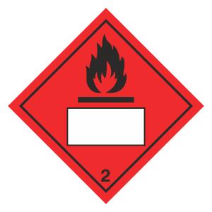 Flammable 2 UN Substance Hazard Numbering Label