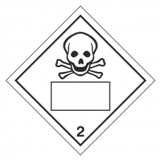 Toxic 2 UN Substance Hazard Numbering Label
