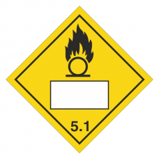 Oxidizer 5.1 UN Substance Hazard Numbering Label