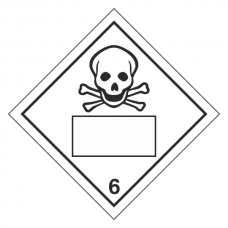Toxic 6 UN Substance Hazard Numbering Label