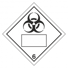 Bio Hazard 6 UN Substance Hazard Numbering Label