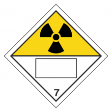 Radioactive 7 UN Substance Hazard Numbering Label