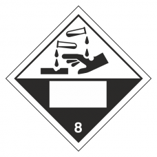Corrosive 8 UN Substance Hazard Numbering Label