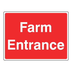 Farm Entrance Sign (Large Landscape)