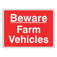 Beware Farm Vehicles Sign (Large Landscape)