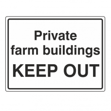 Private Farm Buildings Keep Out Sign (Large Landscape)
