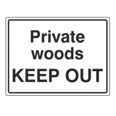 Private Woods KEEP OUT Sign (Large Landscape)