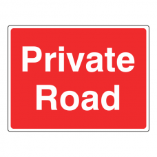 Private Road Farm Sign (Large Landscape)