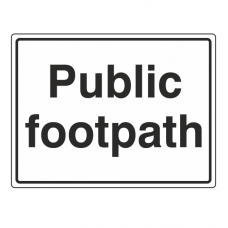 Public Footpath Sign (Large Landscape)