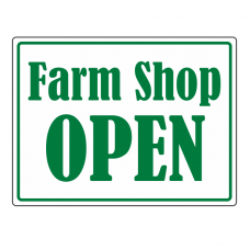Farm Shop OPEN Sign (Large Landscape)