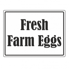 Fresh Farm Eggs Sign (Large Landscape)