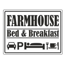 Farmhouse Bed & Breakfast Sign (Large Landscape)