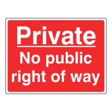 No Public Right Of Way Farm Sign (Large Landscape)