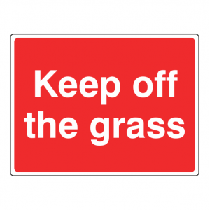 Keep Off The Grass Farm Sign (Large Landscape)
