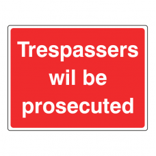 Trespassers Will Be Prosecuted Farm Sign (Large Landscape)