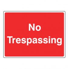 No Trespassing Farm Sign (Large Landscape)