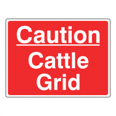 Caution Cattle Grid Sign (Large Landscape)