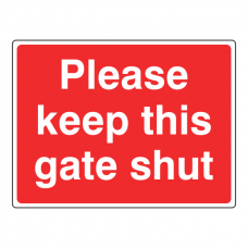 Please Keep This Gate Shut Farm Sign (Large Landscape)